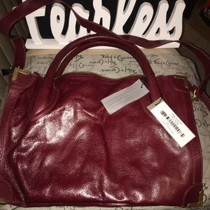 NWT AUTHENTIC FOLEY-CORINNA LEATHER SATCHEL